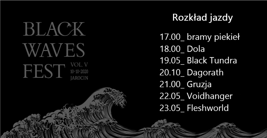 Rozpiska czasowa Black Waves Fest vol. 5!